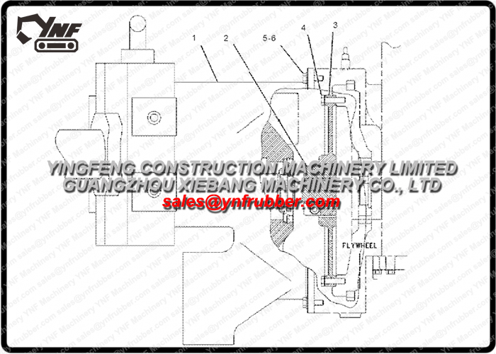 1545558 Flange for Caterpillar 154-5558