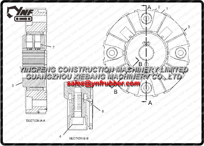 239-6650 Element for Caterpillar CAT Excavator Coupling 2396650