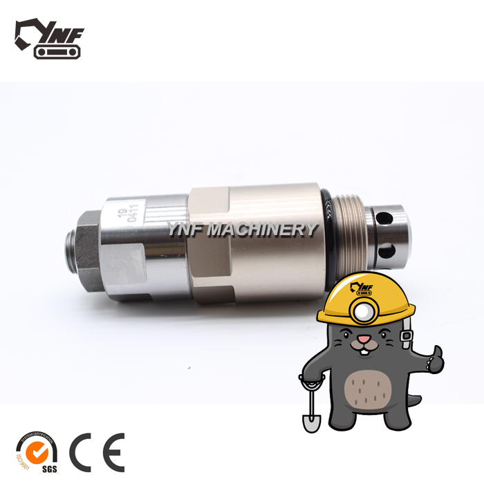 YNF02992 High Pressure Relief Valve XJBN-00162 for Wheel Excavator R200W-7 Crawler Excavator R210LC-7 R250LC-7